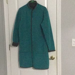 Reversible Gray/Teal Coat